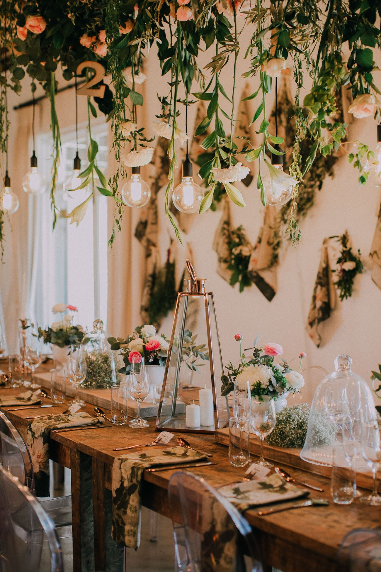 Hanging Lights and Flowers | Image: Michelle du Toit
