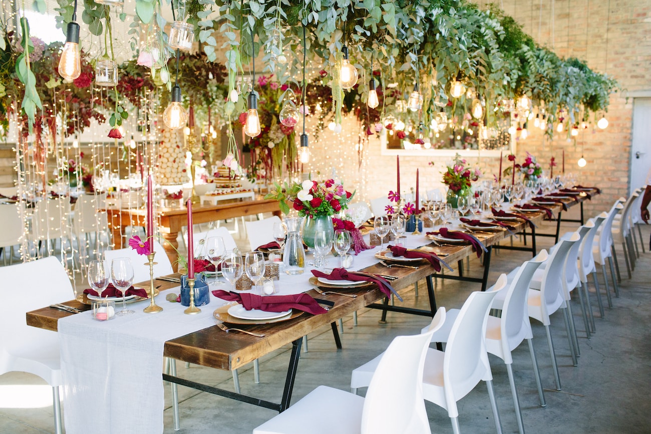Hanging Wedding Decor & Florals | Image: Tasha Seccombe