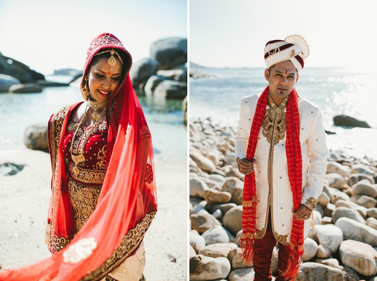 Traditional South Asian Bride and Groom Attire | Image: Claire Thomson