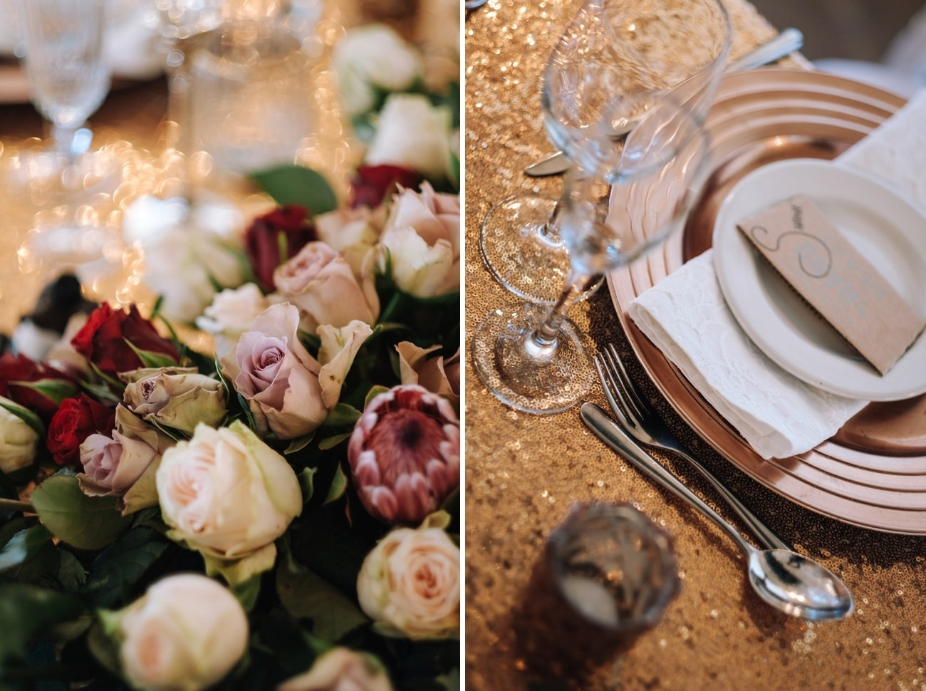 Winter Wedding with Two Gorgeous Gowns Decor | Image: The Shank Tank