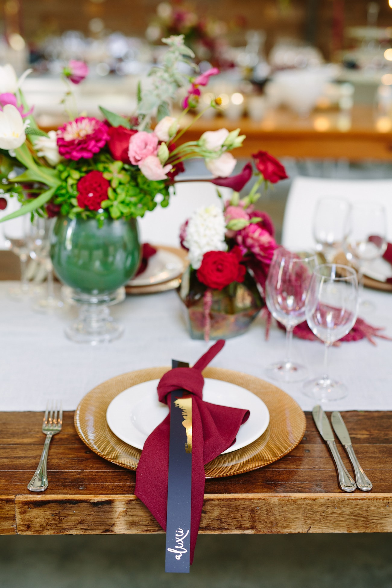 Jewel Tone Wedding Decor | Image: Tasha Seccombe
