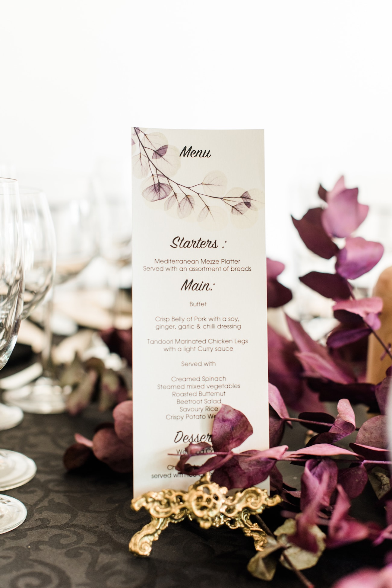 Menu with Dried Flowers | Image: Roxanne Davison