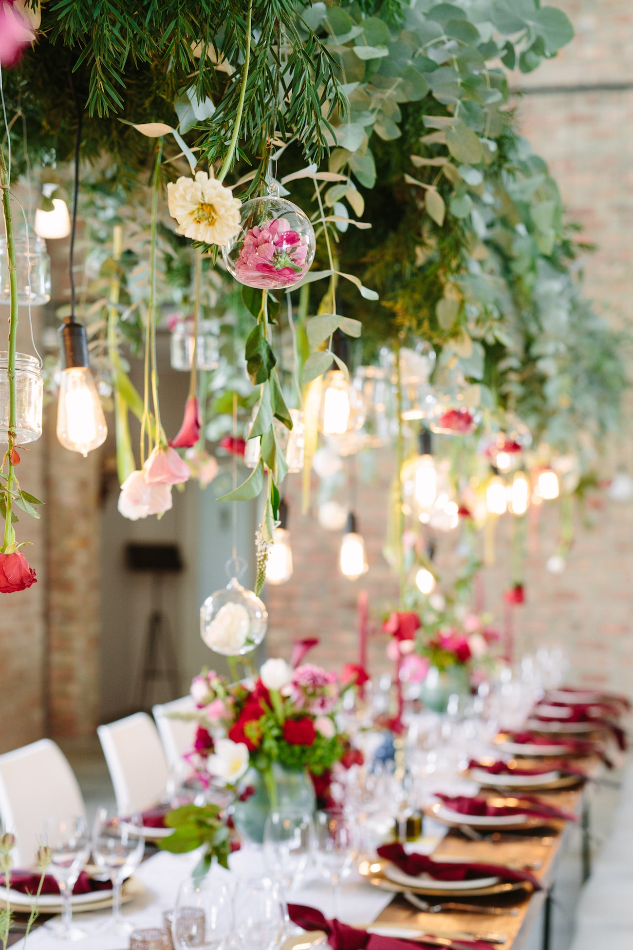 Hanging Lights & Flowers | Image: Tasha Seccombe