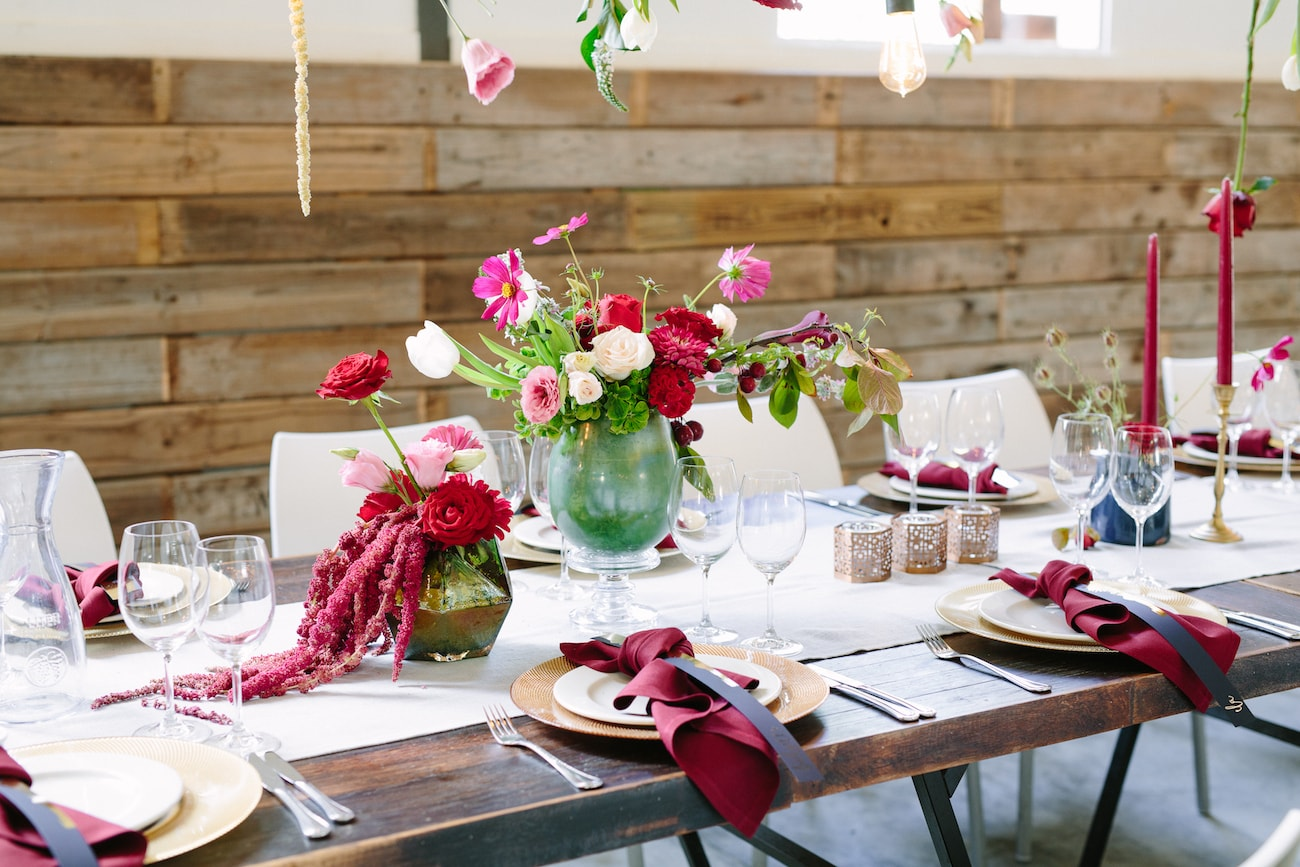 Whimsical Rustic Wedding Table Decor | Image: Tasha Seccombe
