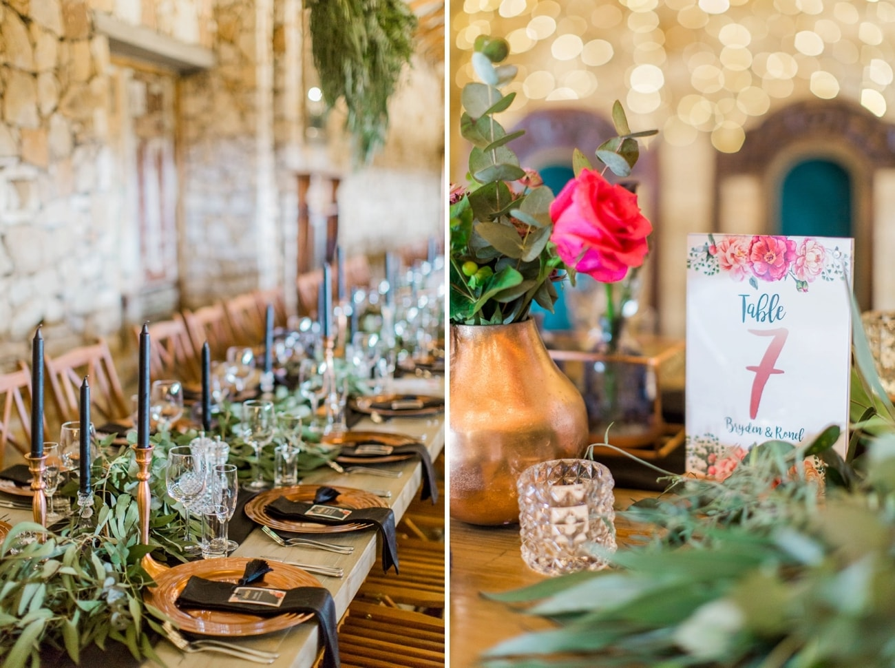Copper Wedding Decor | Image: Grace Studios