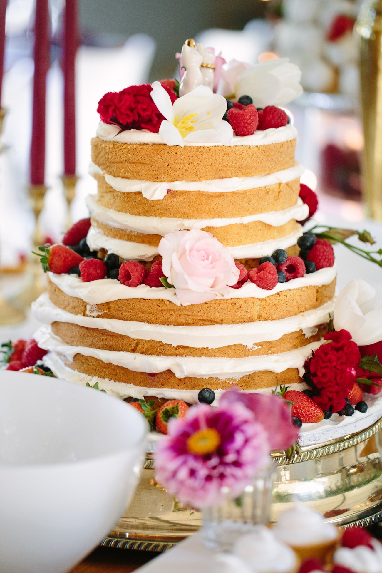 Naked Cake with Fruit Decoration | Image: Tasha Seccombe