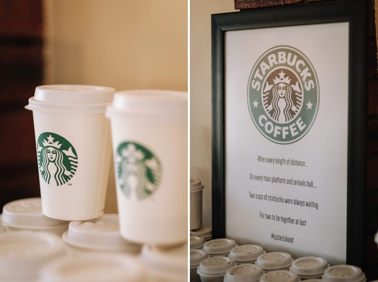 Starbucks Wedding Favors | Image: The Shank Tank