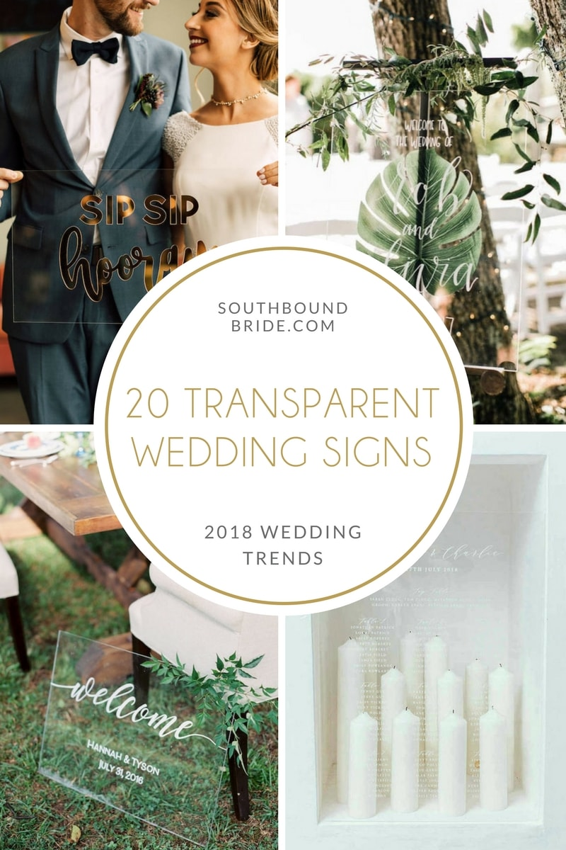 20 Transparent Wedding Signs from Etsy | SouthBound Bride