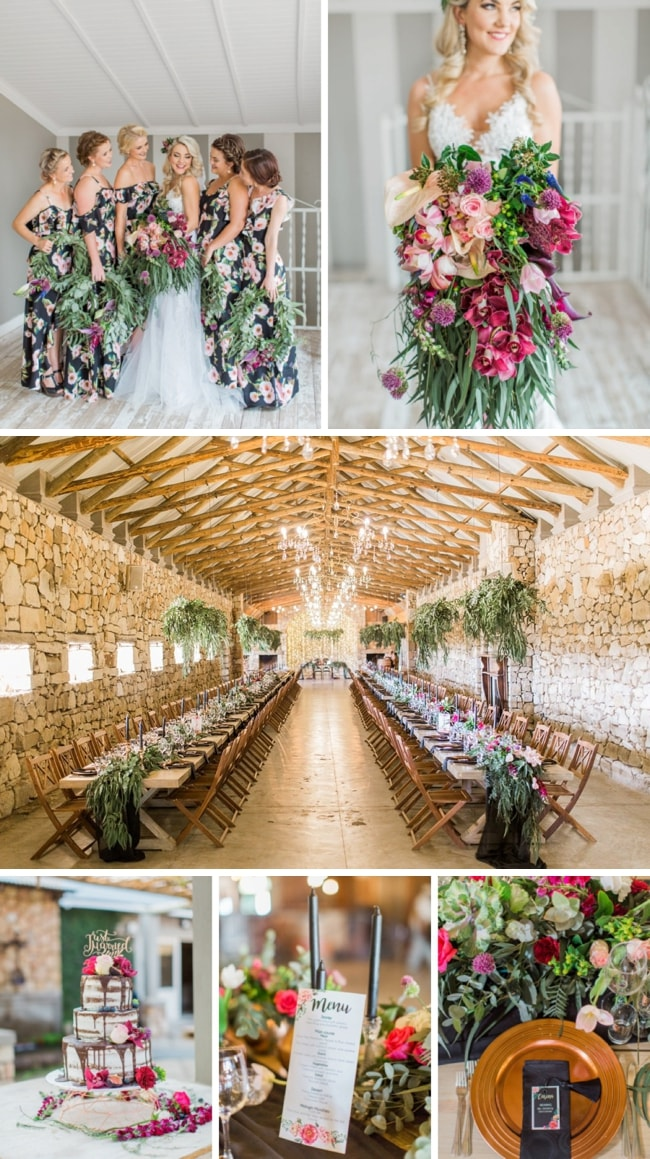 Dark Botanical Floral Wedding by Grace Studios | SouthBound Bride