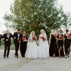 Bold Feminine Industrial Wedding at The Old Tannery by Jenni Elizabeth