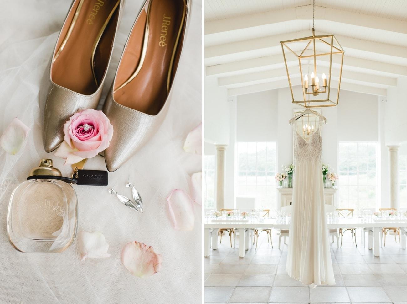 Gold Wedding Shoes   Image: Carla Adel