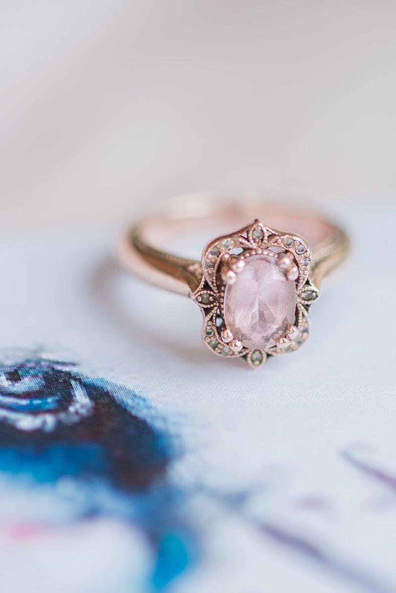 Blush Pink Stone Engagement Ring | Image: Marilize Coetzee
