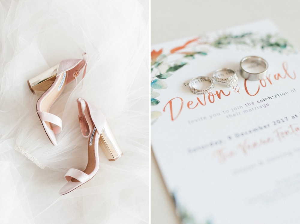Rose Gold Wedding Invitation | Image: Bright Girl Photography