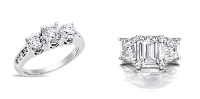 15 Meghan Markle Style Trinity Engagement Rings | SouthBound Bride