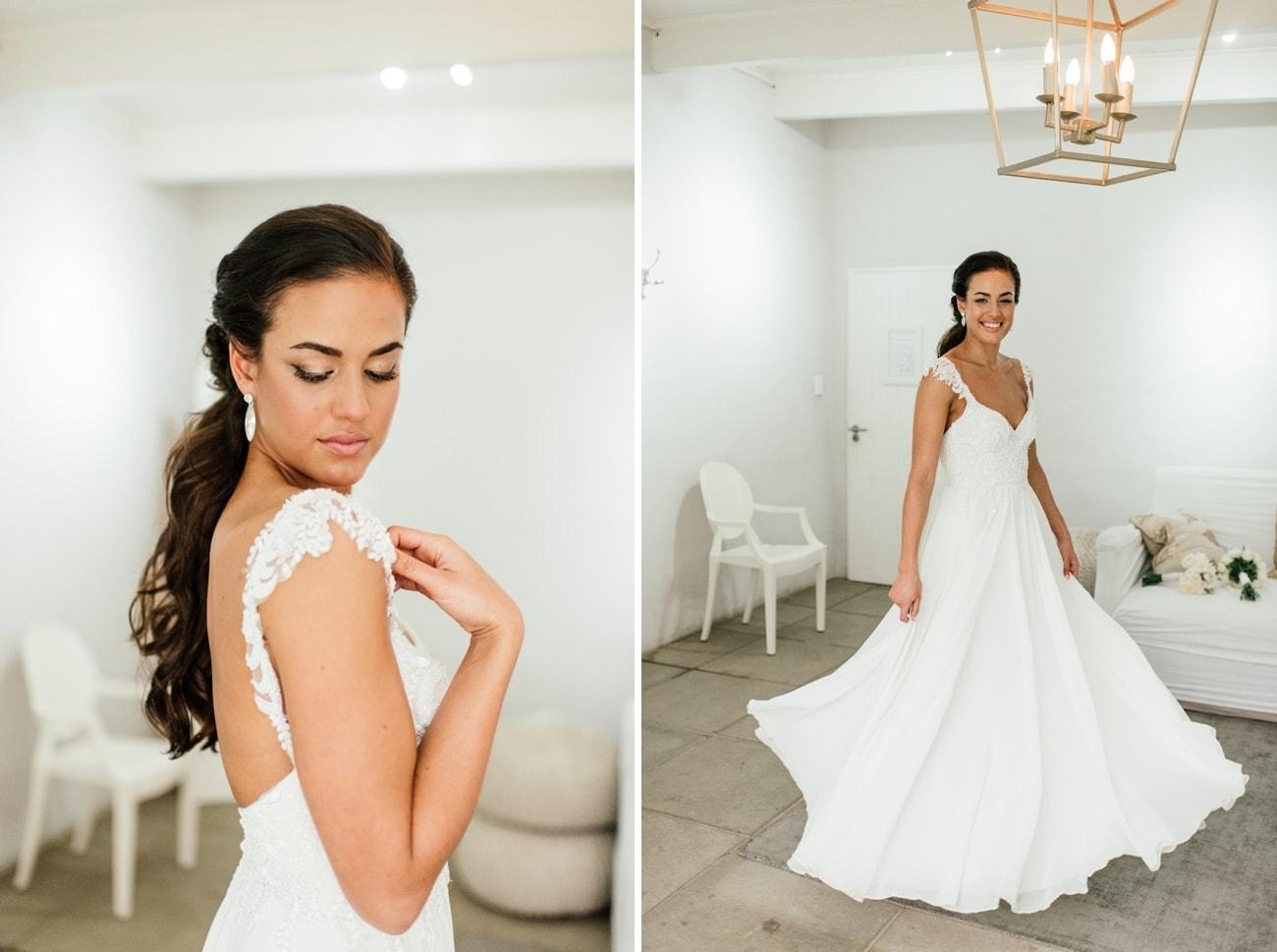 Simple Lace Wedding Dress   Image: Carla Adel