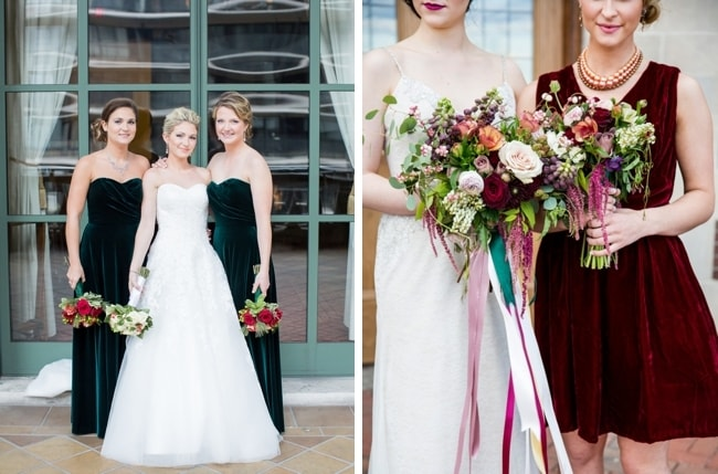Velvet Bridesmaid Dress Inspiration   SouthBound Bride