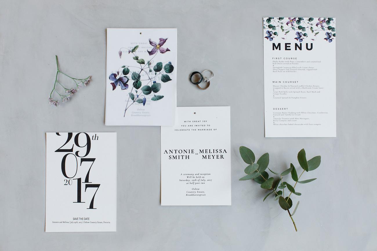 Pastel Botanical Invitation Suite | Image: Rensche Mari