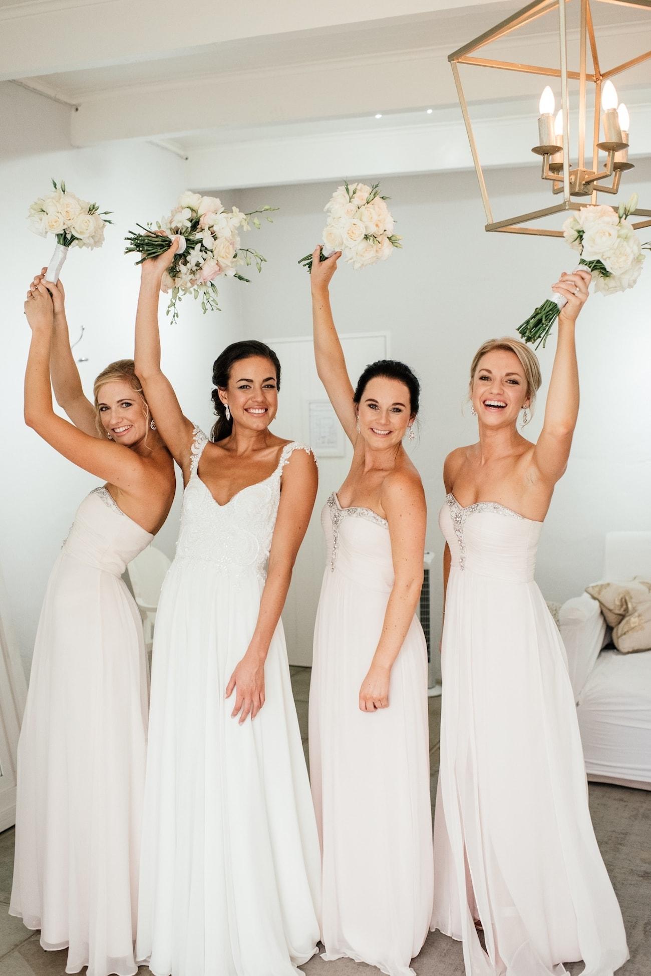 Blush Bridesmaids   Image: Carla Adel