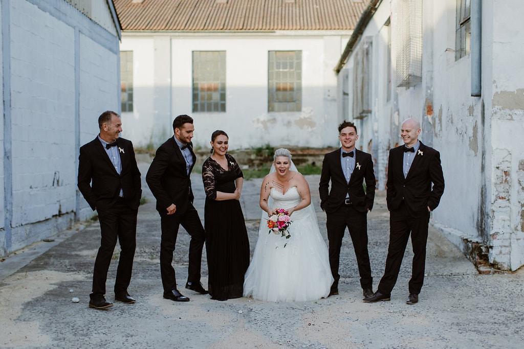 Bride with Bridesmaid and Bridesmen | Image: Jenni Elizabeth