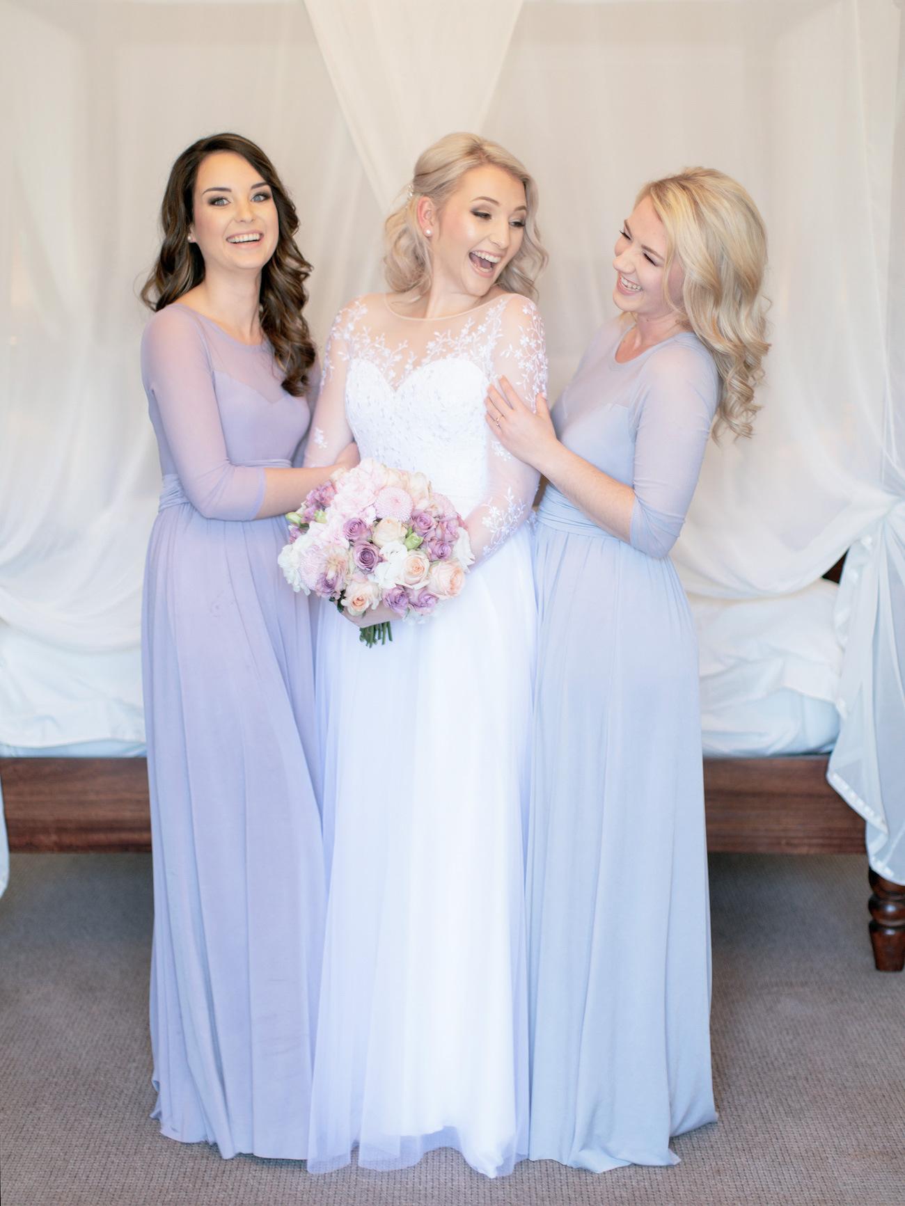 Pastel Purple Bridesmaid Dresses | Image: Rensche Mari