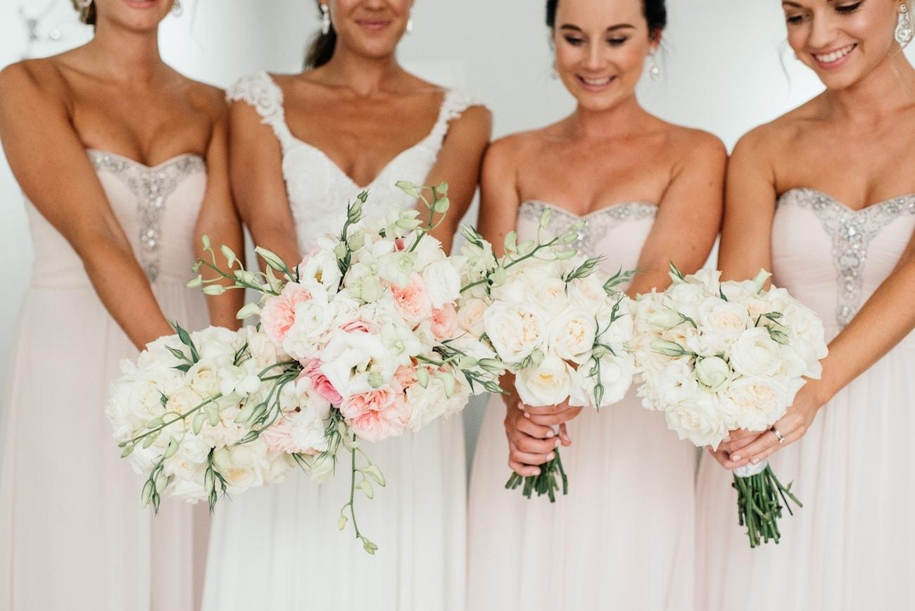Embellished Blush Wedding Dresses   Image: Carla Adel
