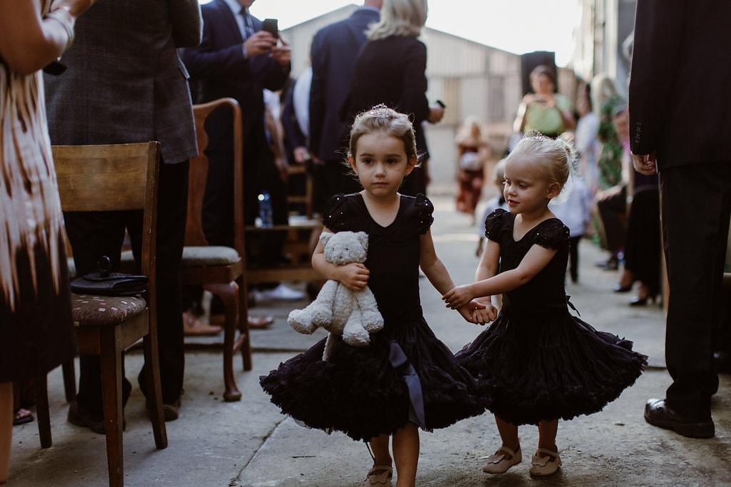 Flowergirls in Black Dresses | Image: Jenni Elizabeth