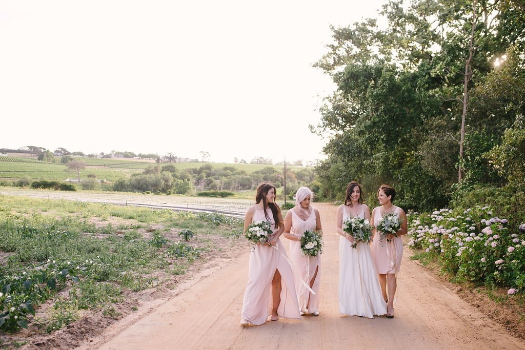 Blush Bridesmaids | Image: Cheryl McEwan