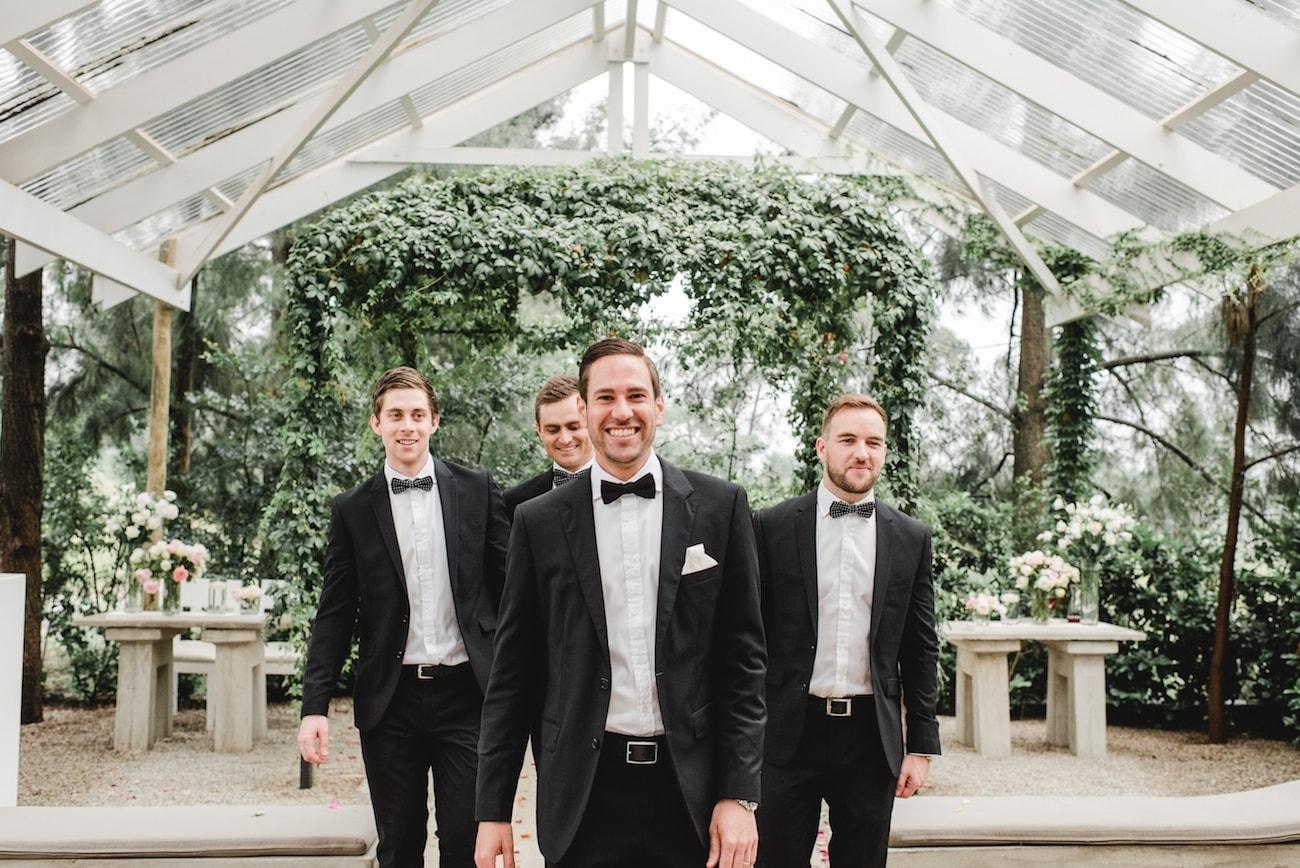 Groomsmen in Black Suits   Image: Carla Adel
