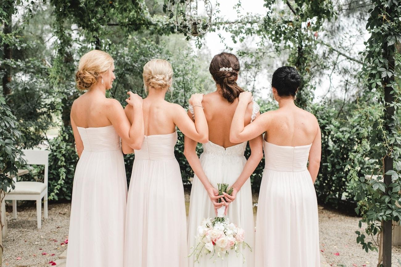 Blush Bridesmaid Dresses   Image: Carla Adel
