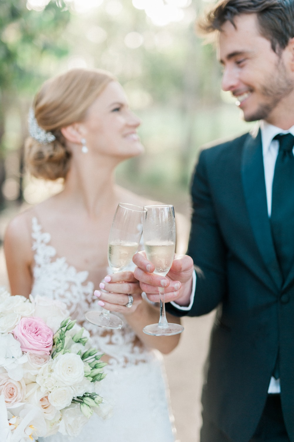 Bride & Groom Champagne Toast | Image: Bright Girl Photography