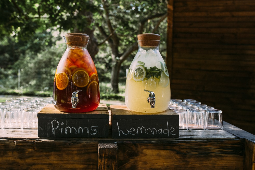 Pimms Lemonade Drinks Station | Image: Hayley Takes Photos