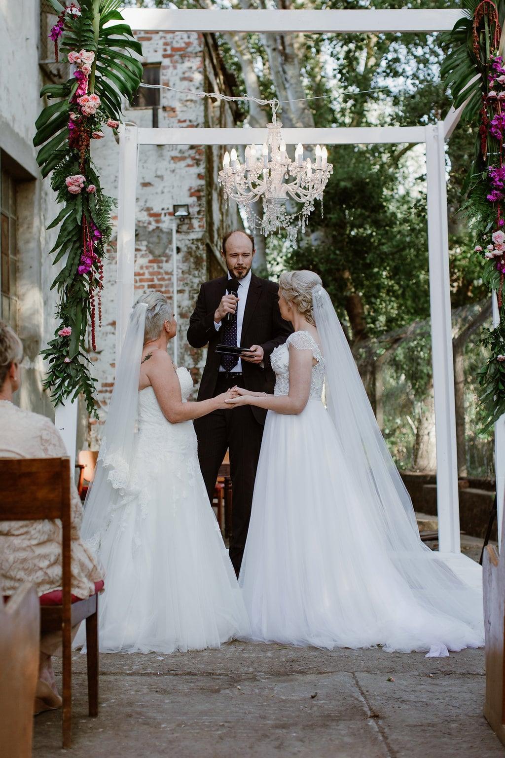 Two Brides at Wedding Ceremony | Image: Jenni Elizabeth