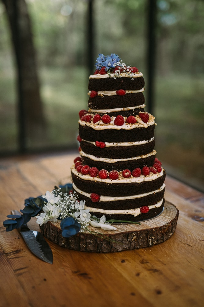 Homemade Naked Wedding Cake | Image: Hayley Takes Photos