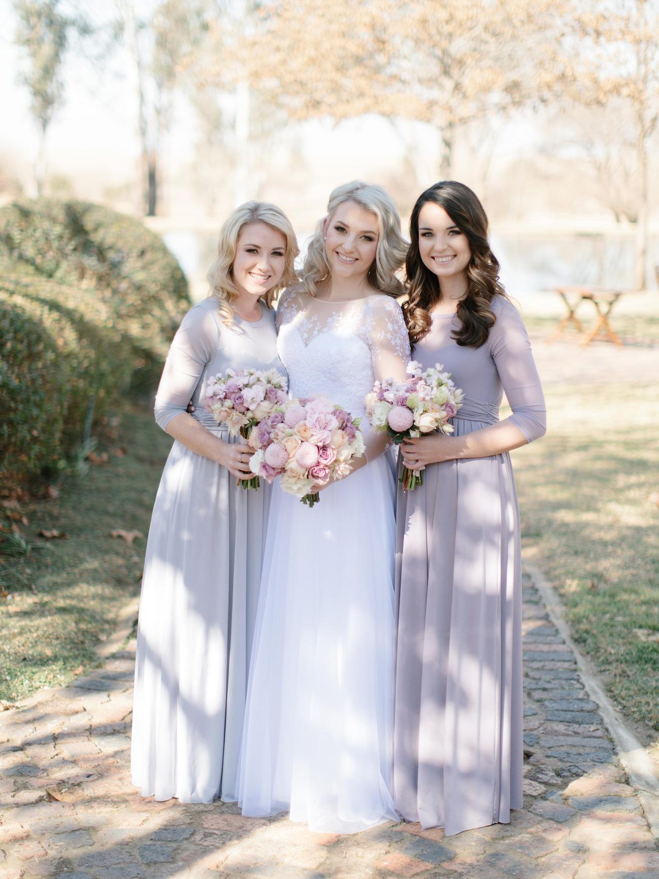 Lilac & Lavender Bridesmaid Dresses | Image: Rensche Mari