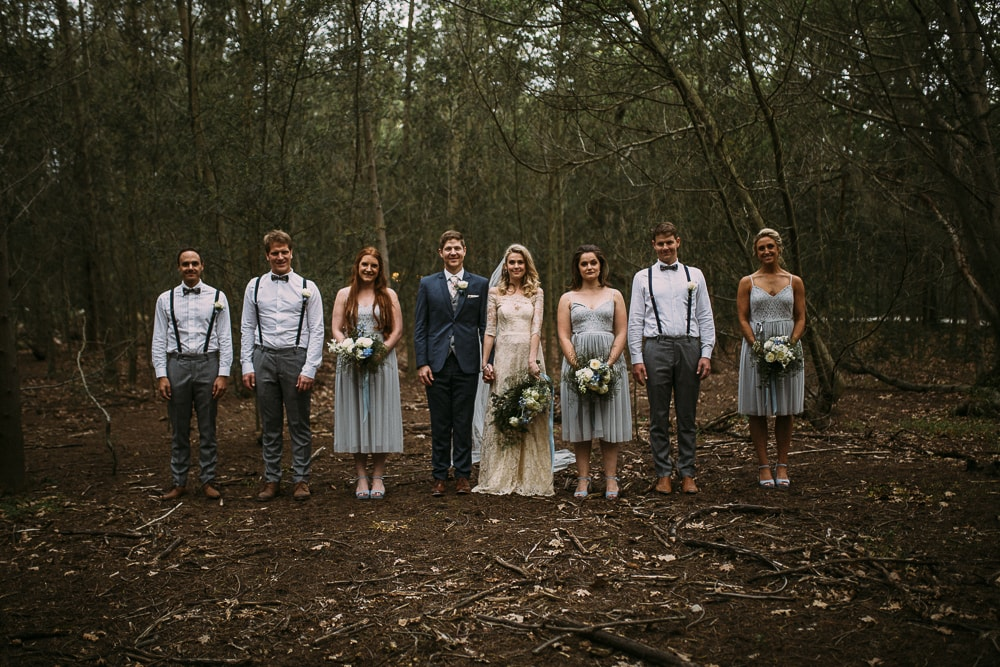 Forest Wedding Party | Image: Hayley Takes Photos