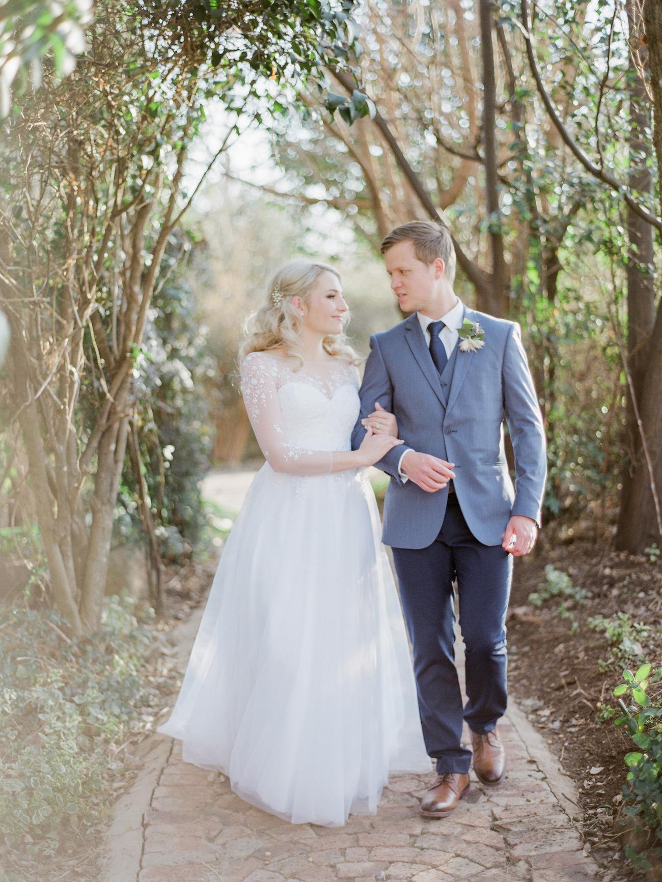 Illusion Neckline Wedding Dress | Image: Rensche Mari