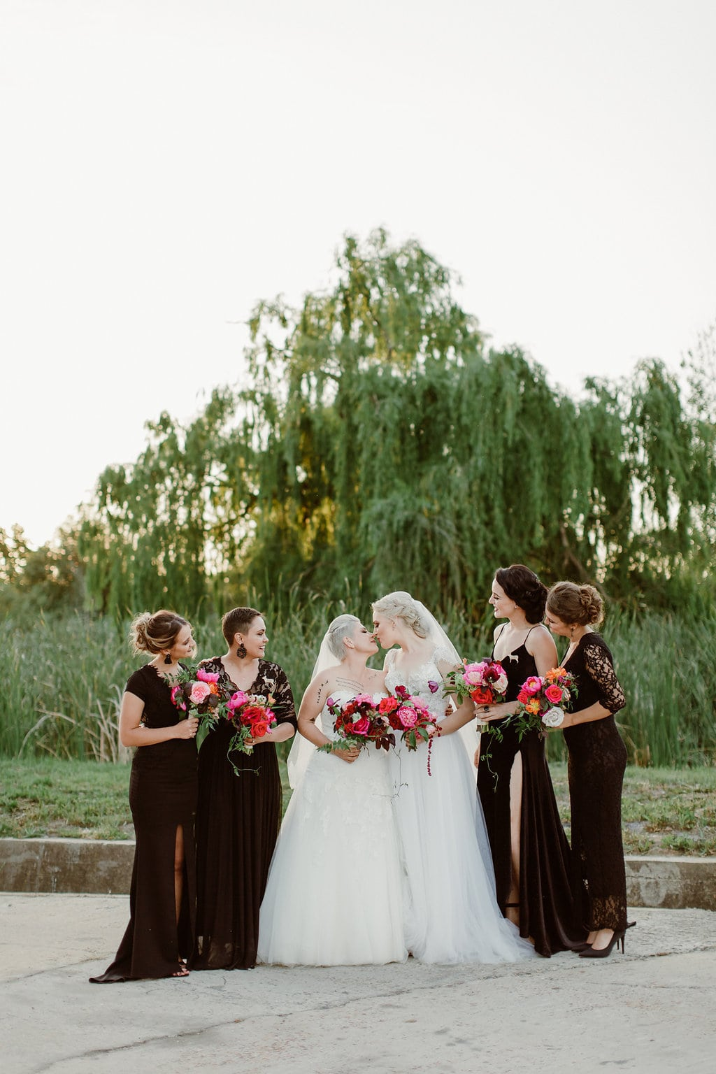 Brides with Bridesmaids | Image: Jenni Elizabeth