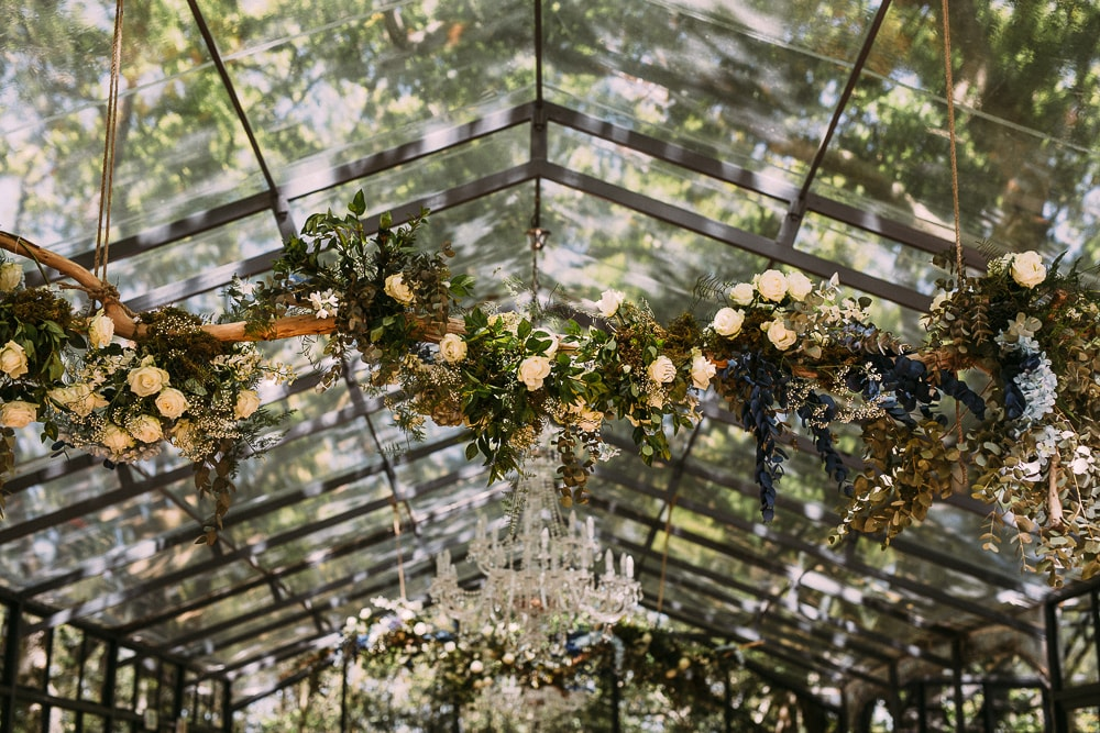 Hanging Branch with Flowers Decoration | Image: Hayley Takes Photos