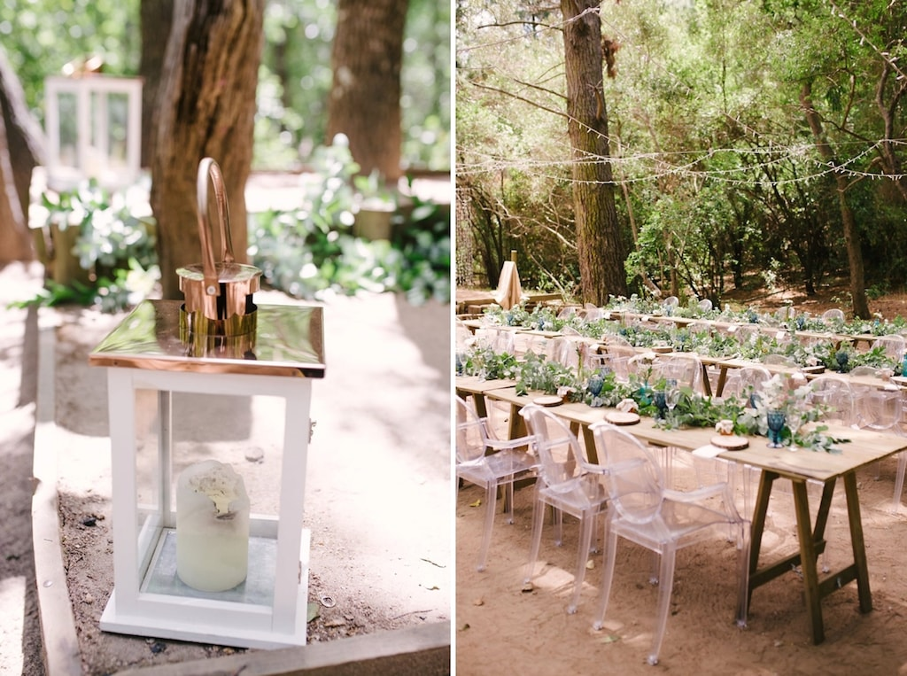 Open Air Forest Wedding Reception | Image: Cheryl McEwan