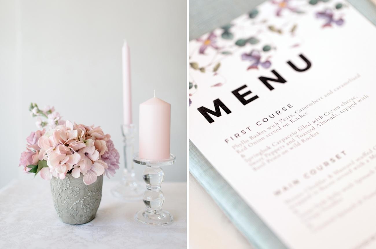 Pink and Purple Pastel Wedding Decor | Image: Rensche Mari