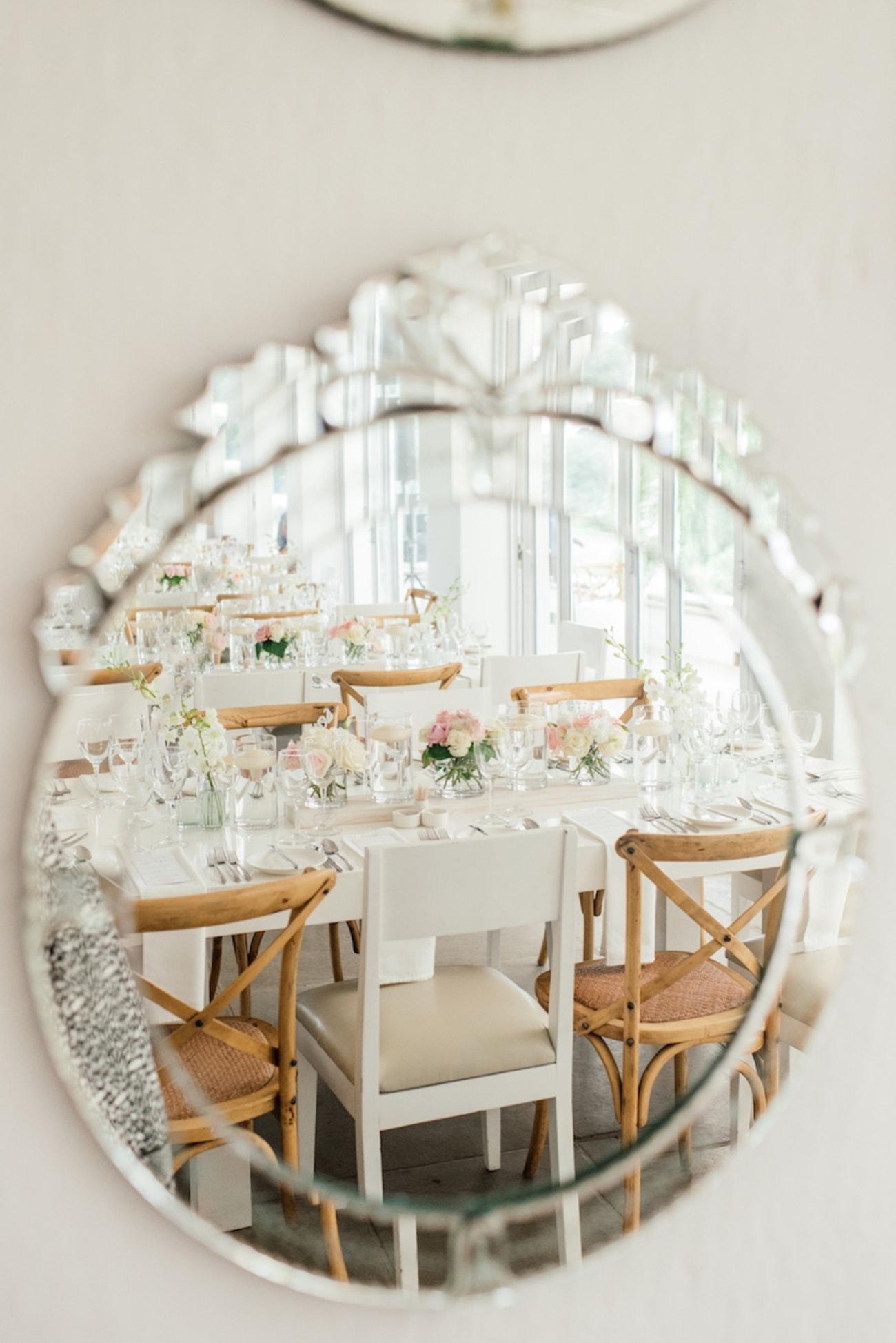 Mirror Wedding Decor   Image: Carla Adel
