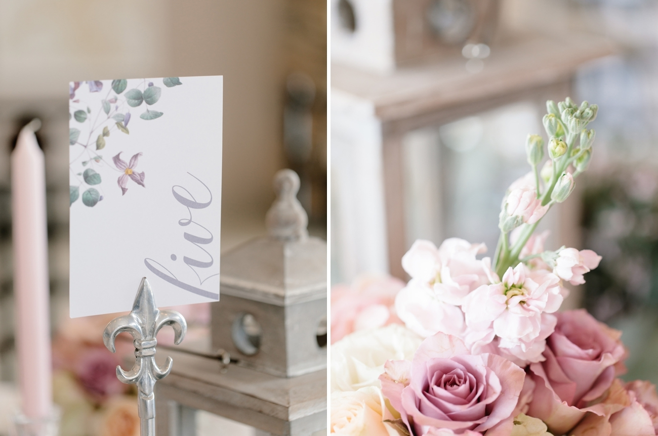 Floral Table Number | Image: Rensche Mari