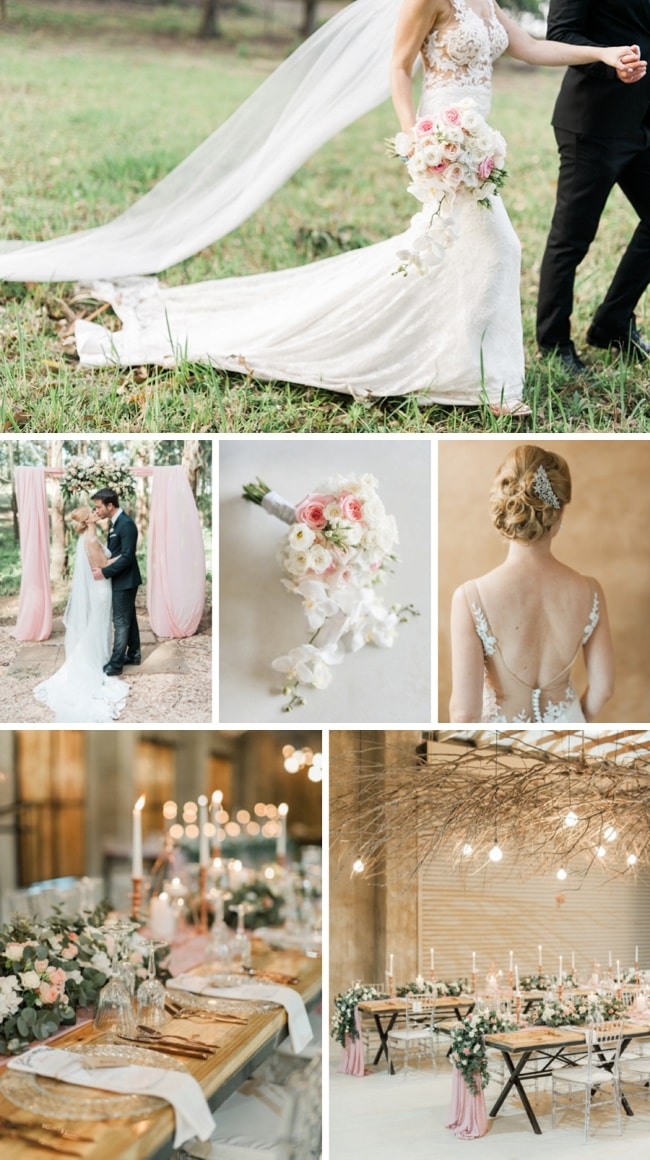 Blush & Rose Gold Wedding at The Venue Fontana by Bright Girl Photography | SouthBound Bride