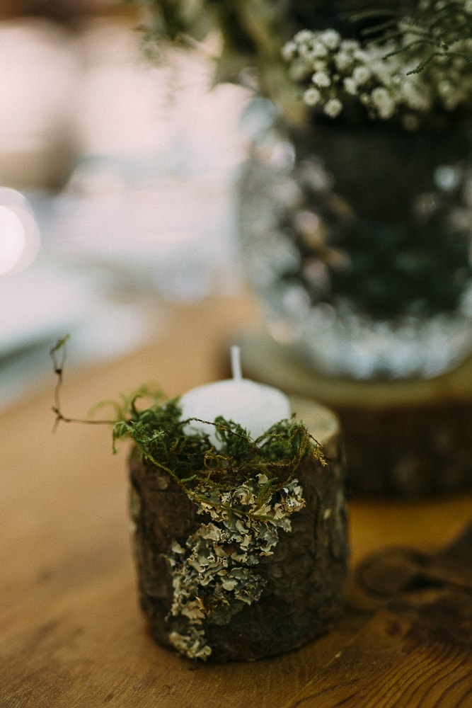 Forest Wedding Votives   Image: Hayley Takes Photos