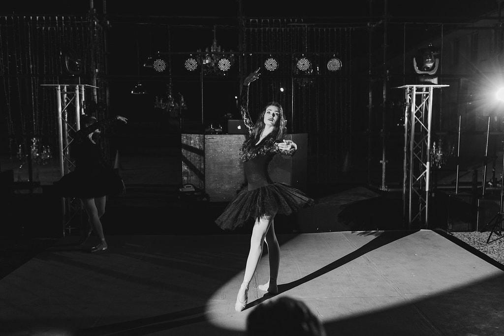 Ballerina at Wedding Reception | Image: Jenni Elizabeth