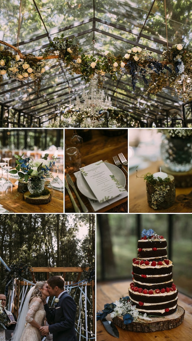 Festive Forest Wedding by Hayley Takes Photos | SouthBound Bride