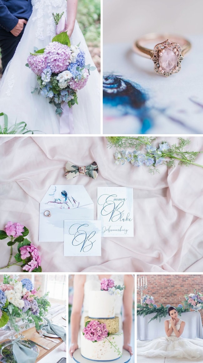 Sweet Hydrangea Wedding Inspiration by Marilize Coetzee & Some Day | SouthBound Bride