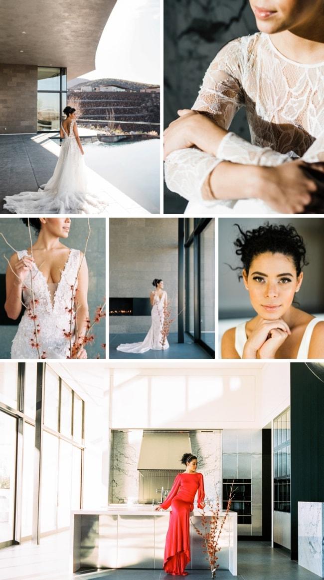 Modern Mansion Bridal Inspiration by Kristen Kay   SouthBound Bride