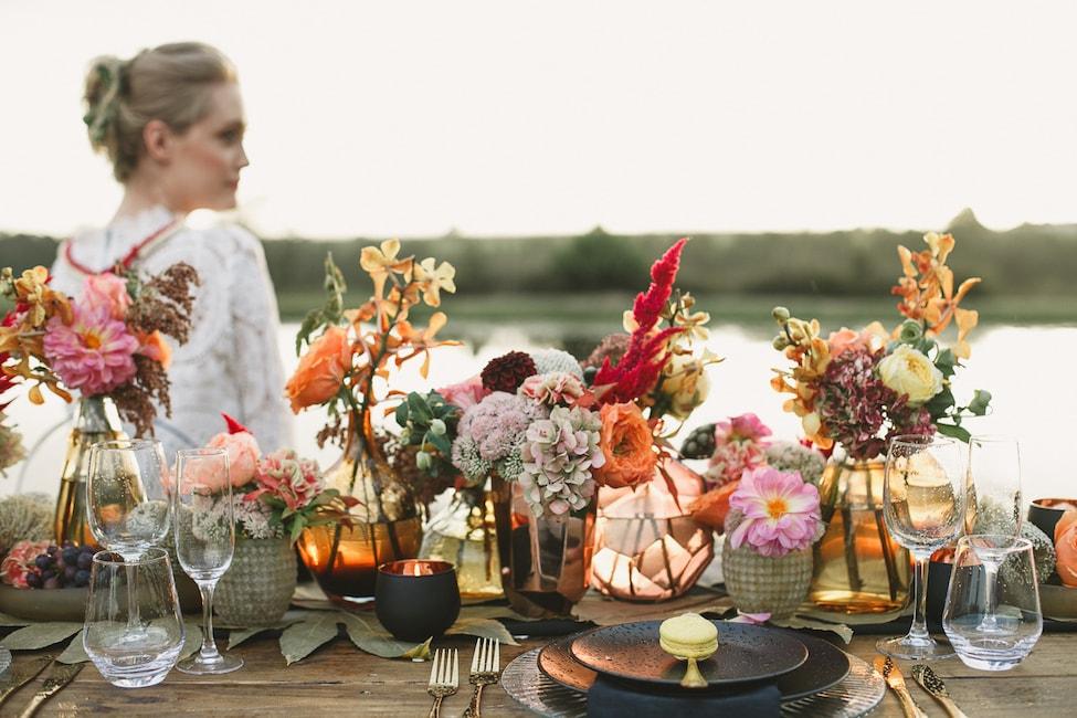 Autumn Bohemian Glow Wedding Inspiration By Jacey Searra