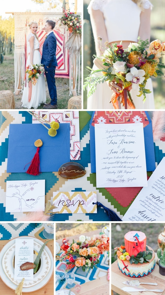 Boho Southwestern Desert Wedding Inspiration by Mila Photography & Iets Niets | SouthBound Bride